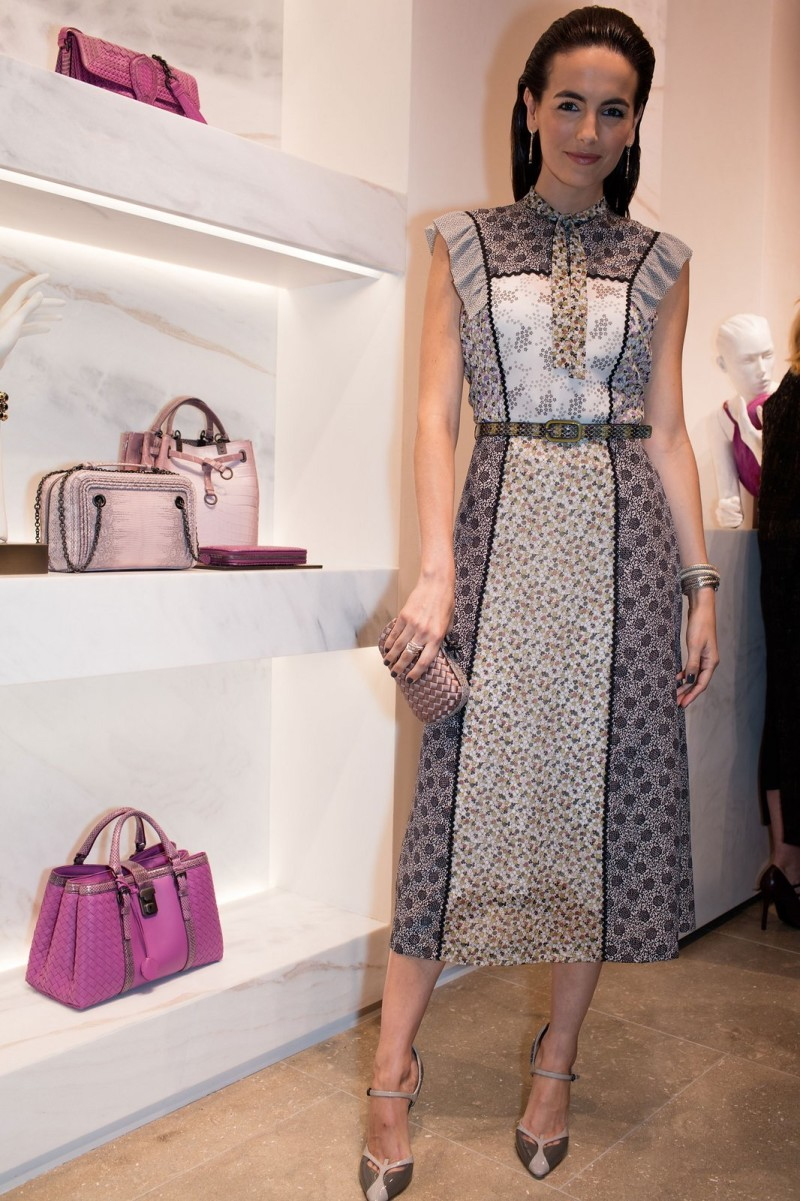 8/ Camilla Belle in Bottega veneta